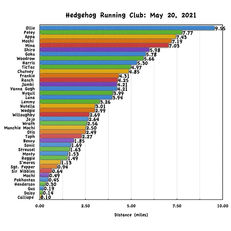 Running Club Results for May 20th