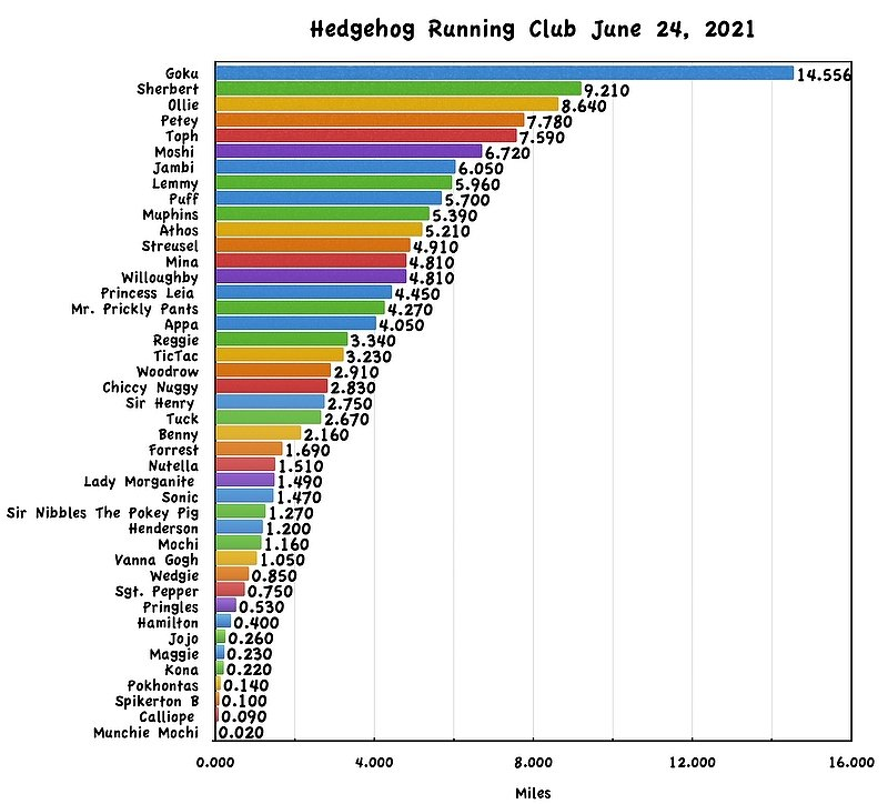 Running Club Results for June 25